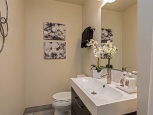 Hall bath, remodeled in 2018, at 1190 Crestline Dr, Cupertino