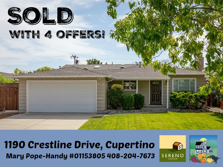 1190 Crestline Dr., Cupertino, CA - sold with 4 offers