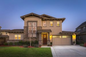 Twilight view - front of 1550 Bautista Way