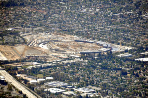 Aerial view of the new Apple Campus on June 15 2015 - photo by John B. Handy, used by permission
